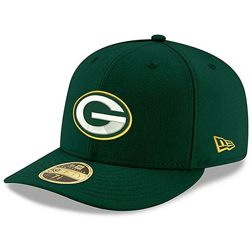 Men's New Era Green Green Bay Packers Omaha Low Profile 59FIFTY Structured Hat