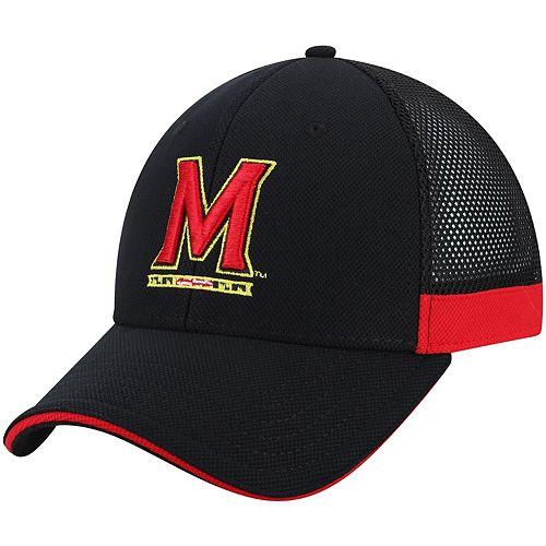 Men's Under Armour Black Maryland Terrapins Team Logo Sideline Blitzing Accent Adjustable Hat