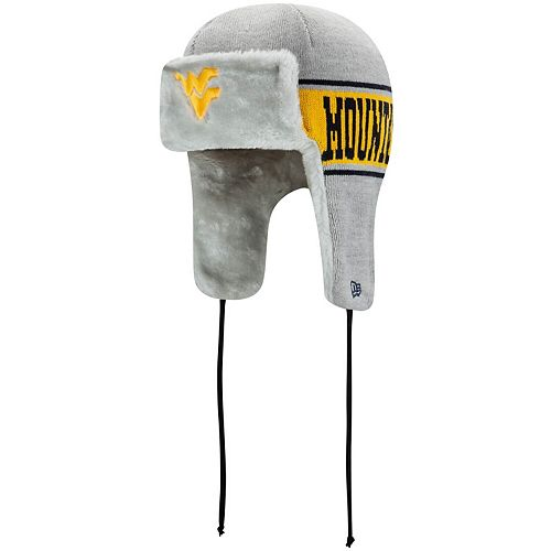 Men's New Era Gray West Virginia Mountaineers Basic Trapper Knit Hat