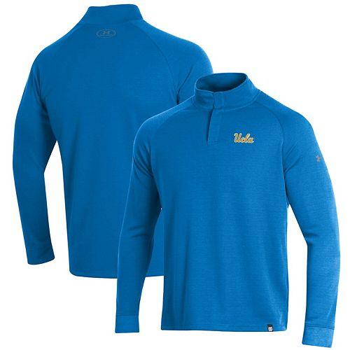 UCLA Bruins Under Armour Double Knit Raglan Quarter-Snap Pullover Jacket - Blue