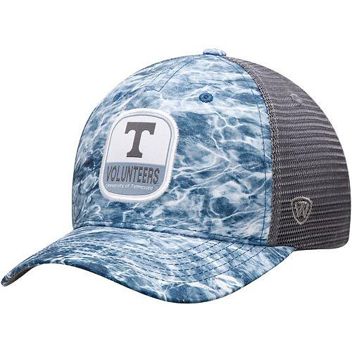 Men's Top of the World Light Blue/Gray Tennessee Volunteers Wet Trucker Adjustable Snapback Hat