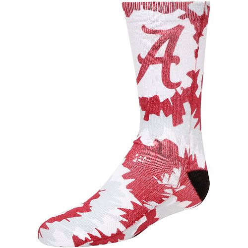 Girls Alabama Crimson Tide Tie Dye Crew Socks