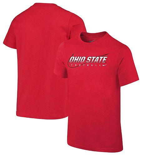 Youth Nike Scarlet Ohio State Buckeyes Sideline Facility T-Shirt