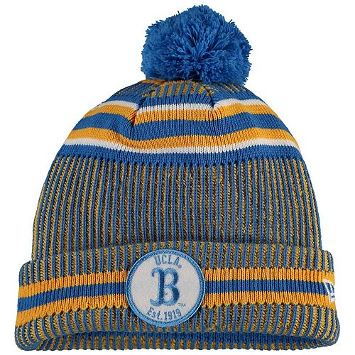 Men's New Era Blue UCLA Bruins Sideline Home Cuffed Knit Hat