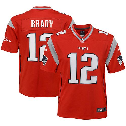 Youth Nike Tom Brady Red New England Patriots Inverted Game Jersey