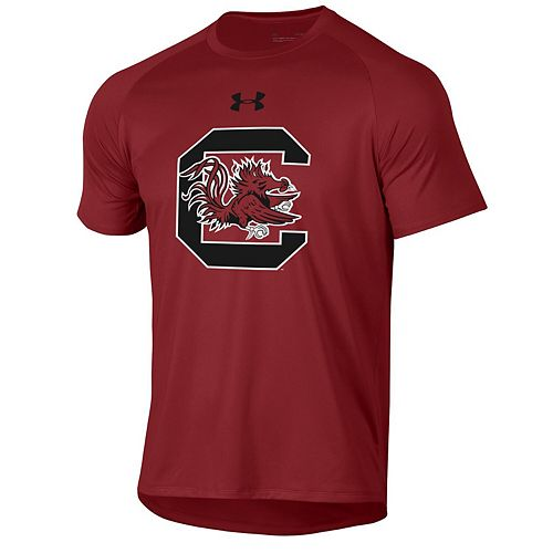 Men's Under Armour Garnet South Carolina Gamecocks School Logo Tech 2.0 Performance T-Shirt