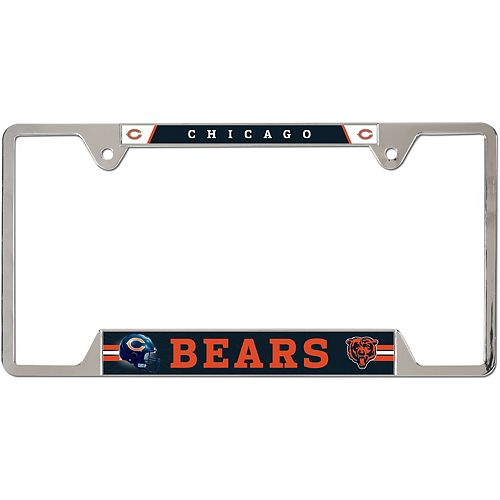 WinCraft Chicago Bears Chrome Plated Metal License Plate Frame