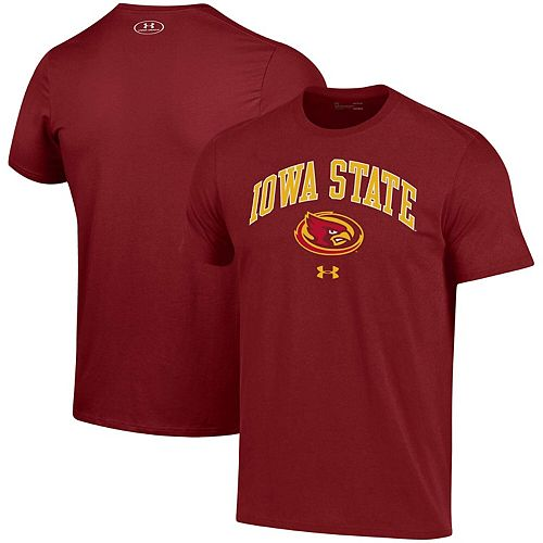 Men's Under Armour Cardinal Iowa State Cyclones Arched Performance T-Shirt