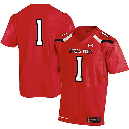 Men's Under Armour #1 Red Texas Tech Red Raiders Replica Football Jersey