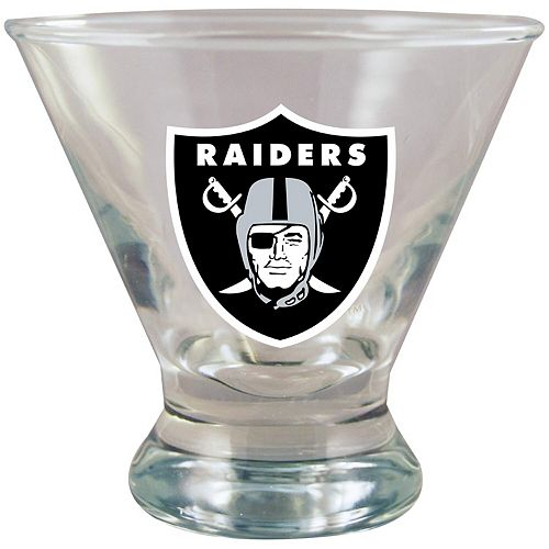 Oakland Raiders 10oz. Martini Glass