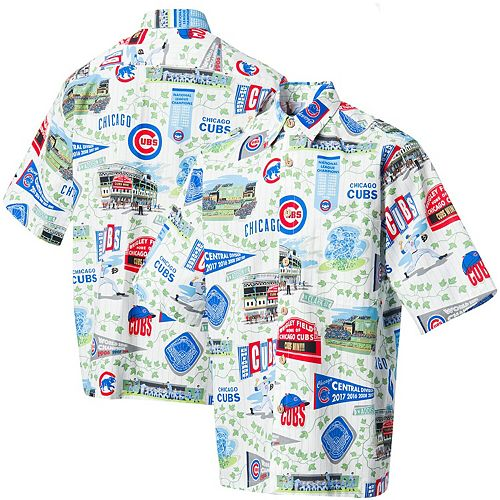 Chicago Cubs Reyn Spooner Scenic Button-Up Shirt - White