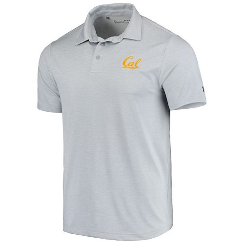 Men's Under Armour Heathered Gray Cal Bears Playoff Performance Polo