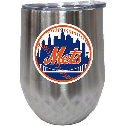 New York Mets 12oz. Stainless Steel Stemless Diamond Tumbler