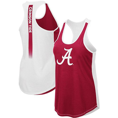 Women's Colosseum Crimson Alabama Crimson Tide Publicist Racerback Tank Top