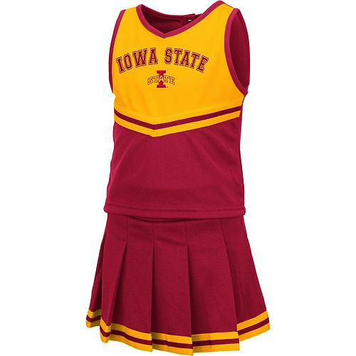 Girls Toddler Colosseum Cardinal Iowa State Cyclones Pinky Cheer Dress