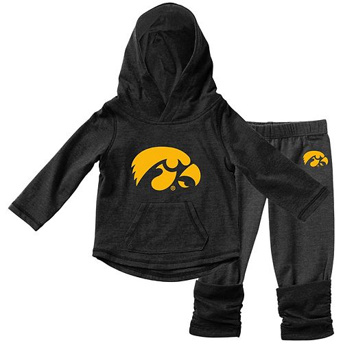 Girls Infant Colosseum Black Iowa Hawkeyes Minerva Long Sleeve T-Shirt and Leggings Set