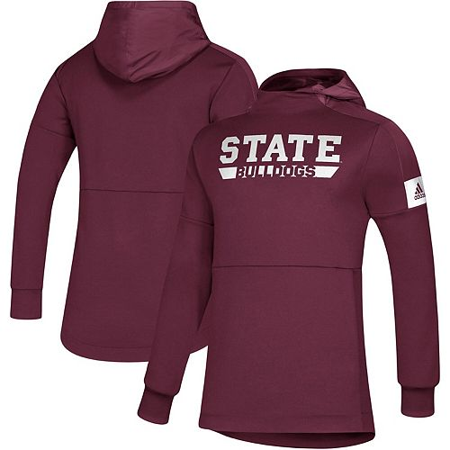 Men's adidas Maroon Mississippi State Bulldogs Sideline Game Mode climalite Pullover Hoodie