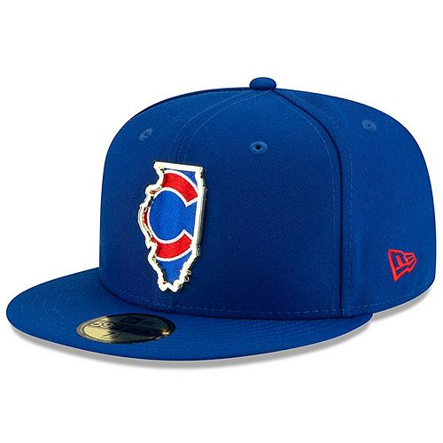 Men's New Era Royal Chicago Cubs Metal & Thread State 59FIFTY Fitted Hat
