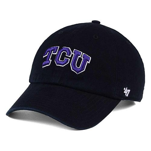 TCU Horned Frogs '47 Clean Up Adjustable Hat - Black