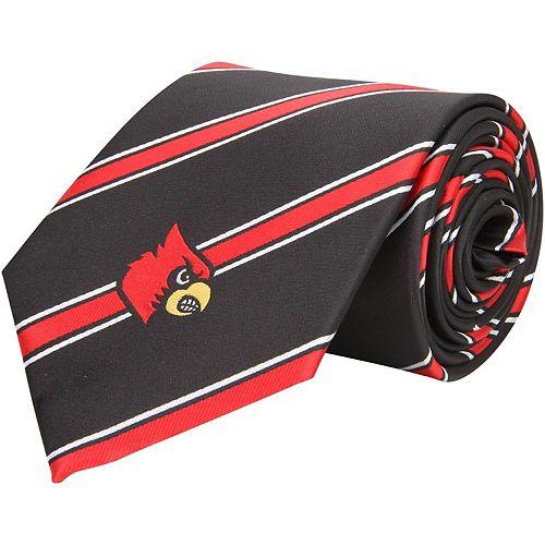 Men's Louisville Cardinals Woven Poly Striped Tie