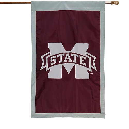 Mississippi State Bulldogs Maroon 28'' x 44'' Team Logo Applique Flag