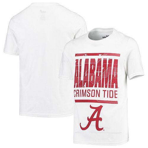 Youth White Alabama Crimson Tide Go For It T-Shirt