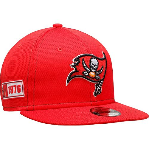 Youth New Era Red Tampa Bay Buccaneers 2019 NFL Sideline Road 9FIFTY Snapback Adjustable Hat
