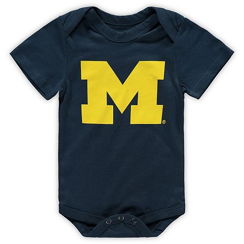 Infant Garb Navy Michigan Wolverines Otis Snap Bodysuit