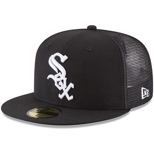 Men's New Era Black Chicago White Sox On-Field Replica Mesh Back 59FIFTY Fitted Hat