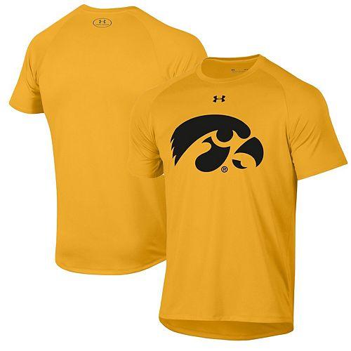 Men's Under Armour Gold Iowa Hawkeyes School Logo Tech 2.0 Performance T-Shirt