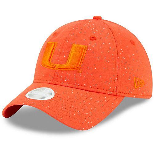 Women's New Era Orange Miami Hurricanes Sparkle 9TWENTY Adjustable Hat