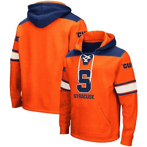 Men's Colosseum Orange Syracuse Orange 2.0 Lace-Up Pullover Hoodie