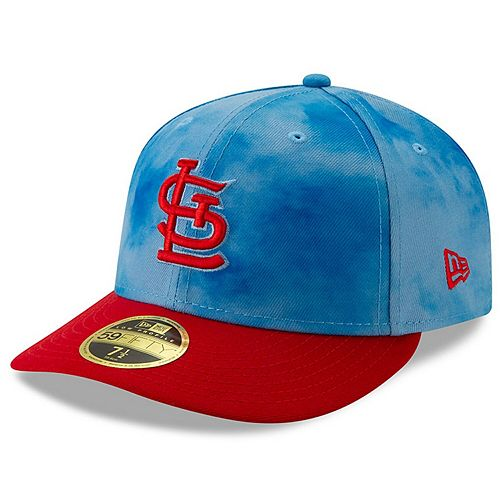 Men's New Era Blue/Red St. Louis Cardinals 2019 Father's Day On-Field Low Profile 59FIFTY Fitted Hat