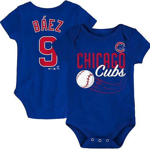 Newborn & Infant Majestic Javier Baez Royal Chicago Cubs Baby Slugger Name & Number Bodysuit