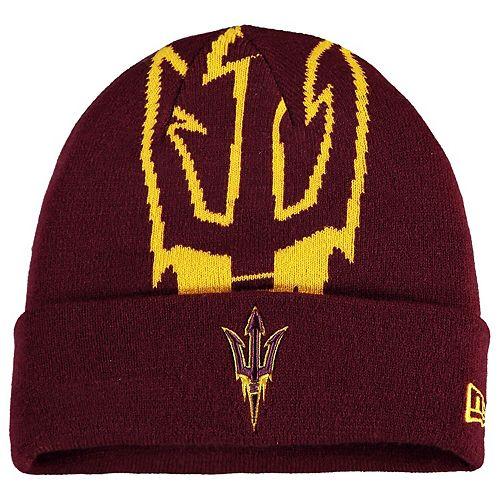 Men's New Era Maroon Arizona State Sun Devils Whiz Cuffed Knit Hat