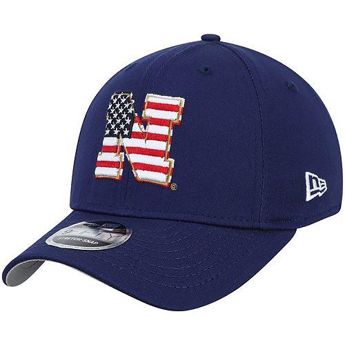 Men's New Era Navy Nebraska Cornhuskers Americana 9FIFTY Stretch Adjustable Snapback Hat
