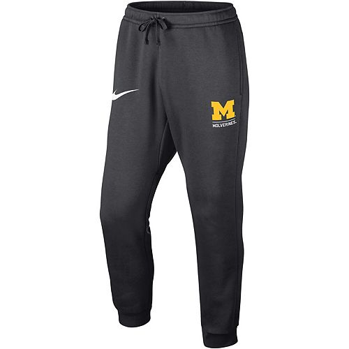 Men's Nike Anthracite Michigan Wolverines Club Fleece Joggers