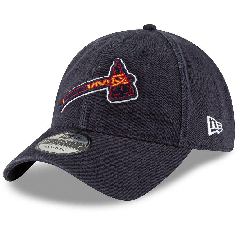 Men's New Era Navy Atlanta Braves Core Classic Secondary 9TWENTY Adjustable Hat