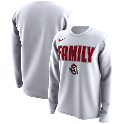 Youth Nike White Ohio State Buckeyes Legend Bench Performance Long Sleeve T-Shirt