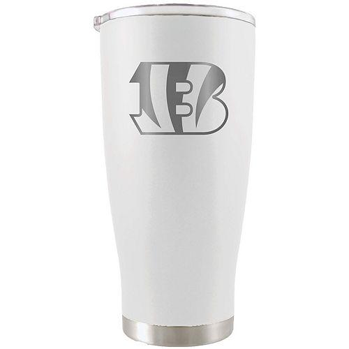 Cincinnati Bengals 20oz. Etched Team Logo Tumbler - White