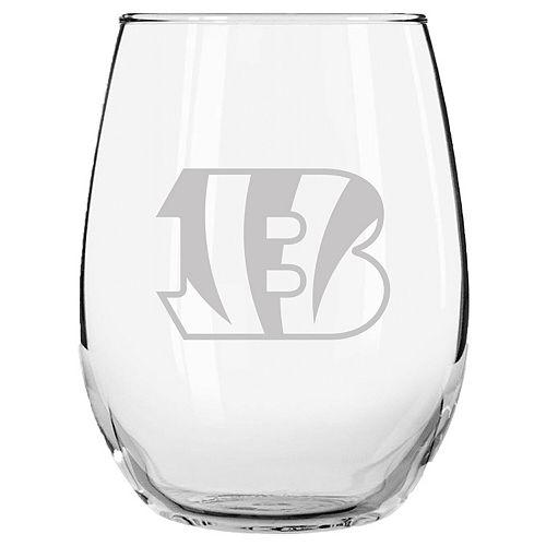 Cincinnati Bengals 15oz. Etched Stemless Glass Tumbler