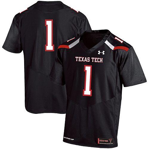 Men's Under Armour #1 Black Texas Tech Red Raiders Premier Football Jersey