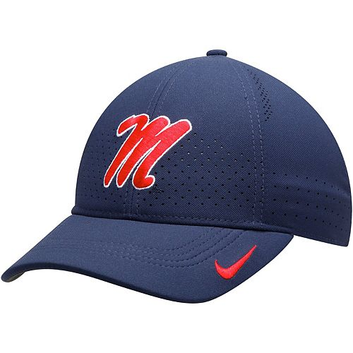 Youth Nike Navy Ole Miss Rebels Sideline Coaches Legacy 91 Performance Adjustable Hat