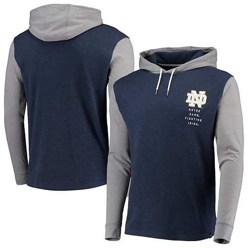 Men's Under Armour Navy/Heathered Gray Notre Dame Fighting Irish Waffle Pullover Hoodie