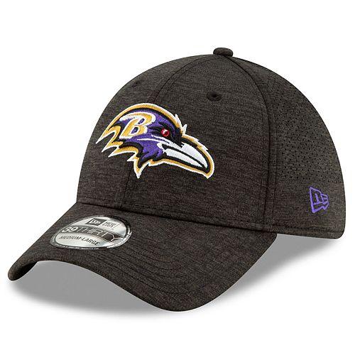 Men's New Era Baltimore Ravens Black STH Perf 39THIRTY Flex Hat