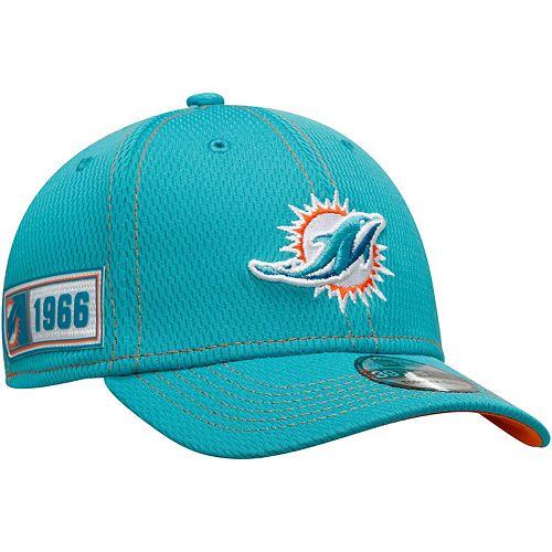 Toddler New Era Aqua Miami Dolphins 2019 NFL Sideline Road 39THIRTY Flex Hat