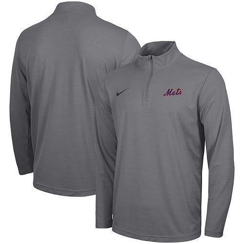 Men's Nike Gray New York Mets Intensity Performance Quarter-Zip Pullover Jacket