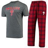 Men's Concepts Sport Red/Navy Philadelphia Phillies Troupe T-Shirt & Pants Sleep Set