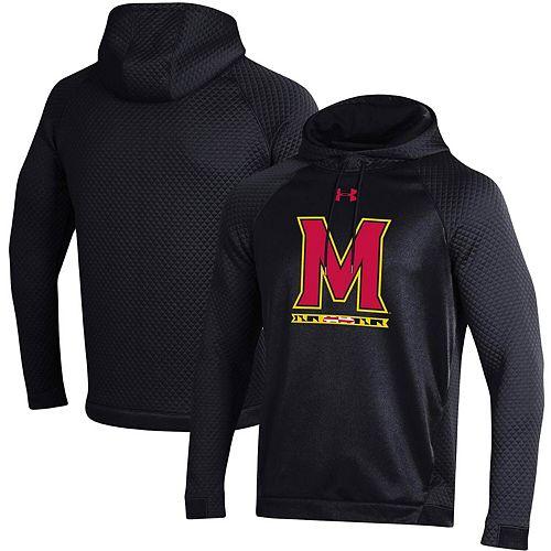 Men's Under Armour Black Maryland Terrapins HD Raglan Pullover Hoodie