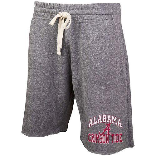Men's Concepts Sport Gray Alabama Crimson Tide Mainstream Tri-Blend Shorts